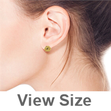 Write The First Review Bling Jewelry Gold Vermeil Love Knot Four Row Twisted Cable Stud Earrings